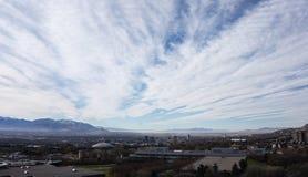 Salt Lake City i niebo Zdjęcie Stock
