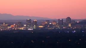 Salt Lake City im Stadtzentrum gelegen lizenzfreie stockfotografie