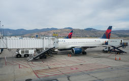Salt Lake City International Airport. Stock Image