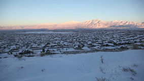 Salt Lake City Jib Shot Winter Side stock videobeelden