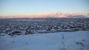 Salt Lake City Jib Shot Winter Side stock video footage