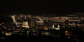 Salt Lake City la nuit Images libres de droits
