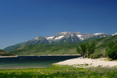 Salt lake city lake and mountains Royalty Free Stock Photography