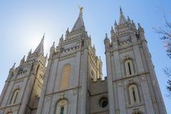 Salt Lake City LDS Temple Spires Stock Image