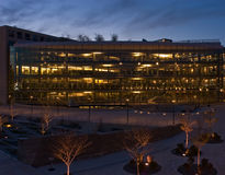 Salt Lake City Library. A view of the south side of the Salt Lake City Public Library at dusk Royalty Free Stock Photo