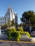 Salt Lake City Mormon Temple, Utah. The Church of Jesus Christ of Latter-day Saints located on Temple Square in Salt Lake City, Utah, United States royalty free stock photo