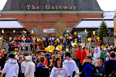Salt Lake City MS Walk. Image of the MS wall teams gathering at the Gateway in Salt Lake city, Utah royalty free stock images