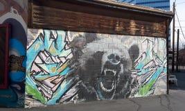 Salt Lake City : Mur de graffiti Image stock