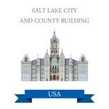 Salt Lake City och län som bygger Utah eniga Sta royaltyfri illustrationer