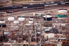 Salt Lake city oil refineries during day time, USA Royalty Free Stock Photo