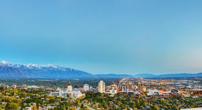 Salt Lake City overview. In the evening Stock Images
