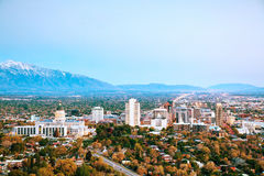Salt Lake City overview Stock Photography