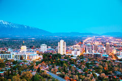 Salt Lake City overview Royalty Free Stock Image