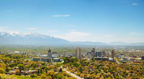 Salt Lake City overview Stock Photos