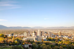 Salt Lake City panoramic overview Royalty Free Stock Image