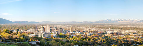 Salt Lake City panoramic overview Royalty Free Stock Photo