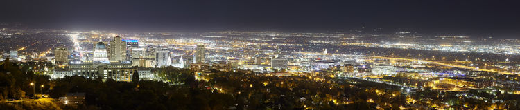 Salt Lake City panoramic picture, Utah, USA Royalty Free Stock Photography