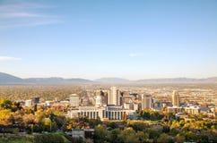 Salt Lake City panoramiczny przegląd Obraz Royalty Free