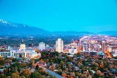 Salt Lake City przegląd Obraz Royalty Free