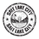 Salt Lake City rubber stämpel royaltyfri illustrationer