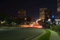 Salt Lake City, scena di notte Fotografia Stock