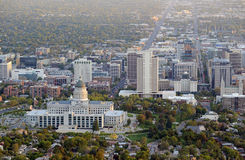 Salt Lake City skyline with Capitol building, Utah. USA Royalty Free Stock Image