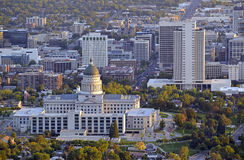 Salt Lake City skyline with Capitol building, Utah Royalty Free Stock Photo