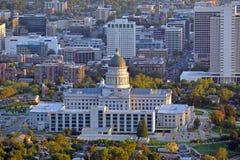 Salt Lake City skyline with Capitol building, Utah Royalty Free Stock Photos