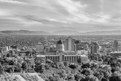 Salt Lake City skyline Utah royalty free stock photos