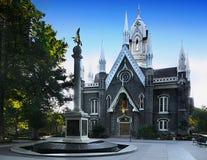 Salt Lake City tempelfyrkant, Utah arkivfoto