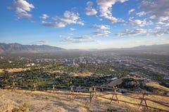 Salt Lake City trascura dal picco di Ensign immagine stock libera da diritti