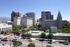 Salt Lake City, Utah (de stad in) Stock Fotografie