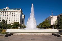 Salt Lake City, Utah, fountain Royalty Free Stock Image