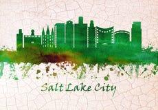 Salt Lake City Utah horisont royaltyfri illustrationer