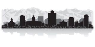 Salt Lake City Utah horisontkontur vektor illustrationer