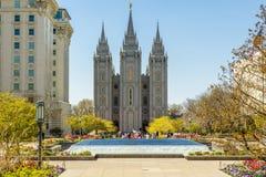 Salt Lake City Utah, LDS świątynia Fotografia Stock