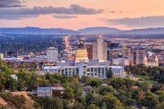 Salt Lake City, Utah at night Stock Photography