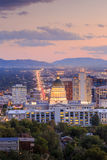 Salt Lake City, Utah przy nocą Obrazy Royalty Free