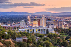 Salt Lake City, Utah przy nocą Fotografia Stock