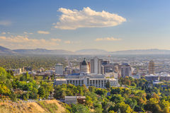 Salt Lake City, Utah. Salt Lake City skyline Utah in USA Royalty Free Stock Photography