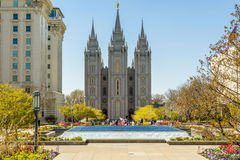 Salt Lake City Utah, templo de LDS Fotografía de archivo