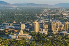 Salt Lake City utah, USA 2017/06/14: härliga Salt Lake City a Fotografering för Bildbyråer