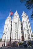 Utah State Capitol. Salt Lake City, Utah, USA - October 8, 2016. Facade of the Salt Lake Temple of The Church of Jesus Christ of Latter-day Saints Royalty Free Stock Photography