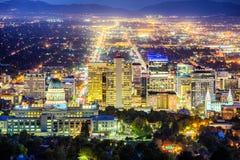 Salt Lake City van de binnenstad Stock Foto's