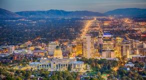 Salt Lake City van de binnenstad Royalty-vrije Stock Fotografie