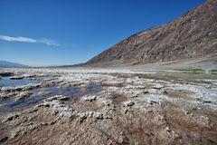 Salt lake in death valley national park Stock Image