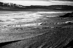 Salt lake in Death Valley Royalty Free Stock Photo