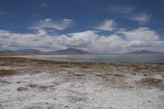 Salt Lake in the desert , Chile Stock Photos