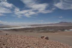 Salt Lake in the desert , Chile Stock Photo