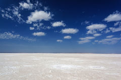 Salt lake desert Stock Photos